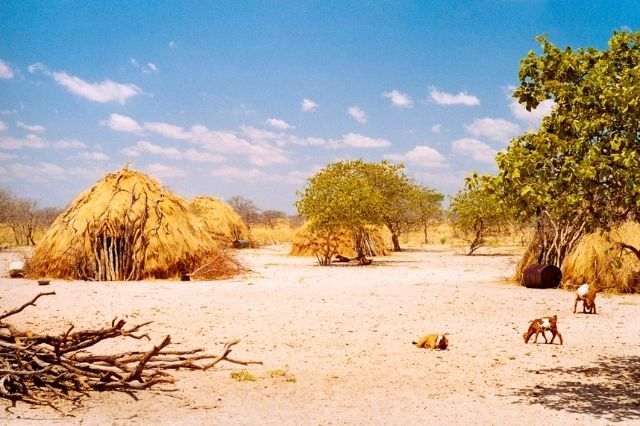 Poblado en Botswana