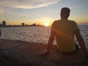 Puesta de sol, Malecón