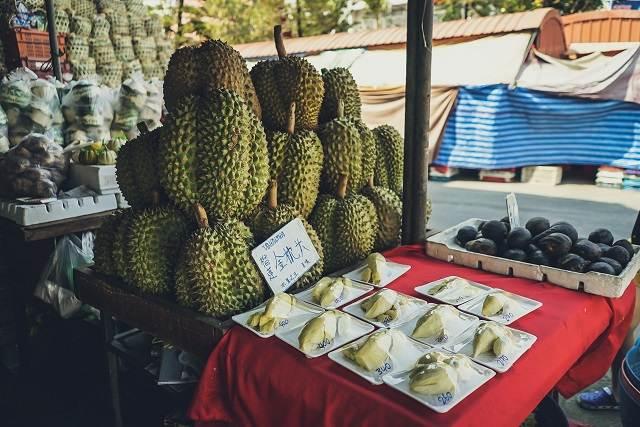 puesto de durian