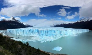 Panorámica del glaciar Perito Moreno en Argentina