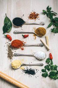 Especias para recetas de los cinco continentes