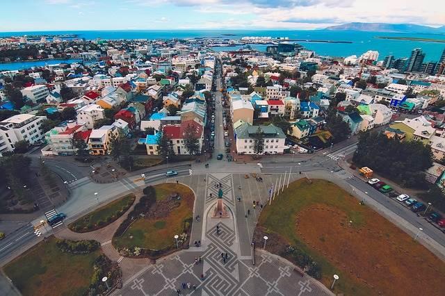 Foto de la capital de Islandia, Reykjavik