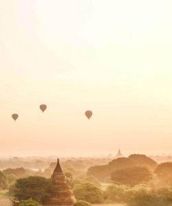 Globos aerostáticos en Birmania