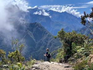 Camino Inca con viajero