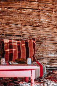 Detalle de casa marroquí de cañas