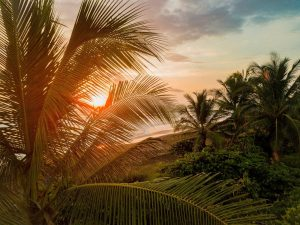 Atardecer en las playas de Guanacaste