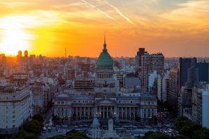 Panorámica del Palacio del Congreso Nacional de Argentina