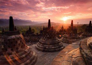 Atardecer en los Templos Borobudur