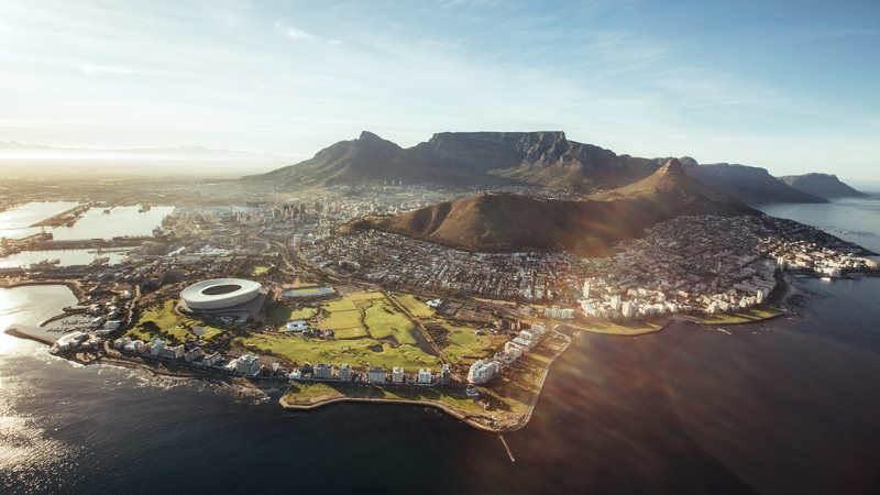 foografía aerea de Sudáfrica