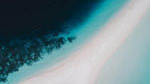 Panorámica de una playa en Male, Maldivas