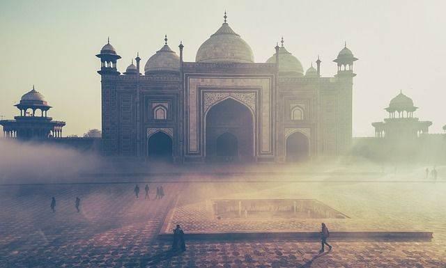 Taj Mahal monumento de la India