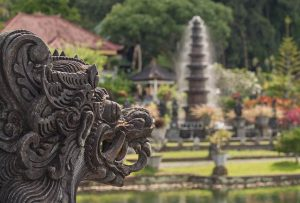 escultura de un templo de Bali