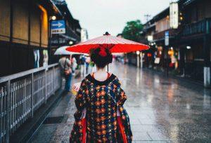 Chica japonesa por Gion