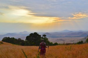Atardecer en el corazón del pueblo keniata