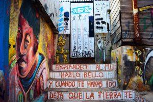 Graffiti callejero en las calles de Santiago de Chile