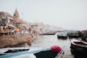 Orillas del río Ganges en Varanasi