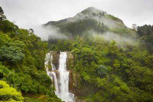 Catarata en Sri Lanka