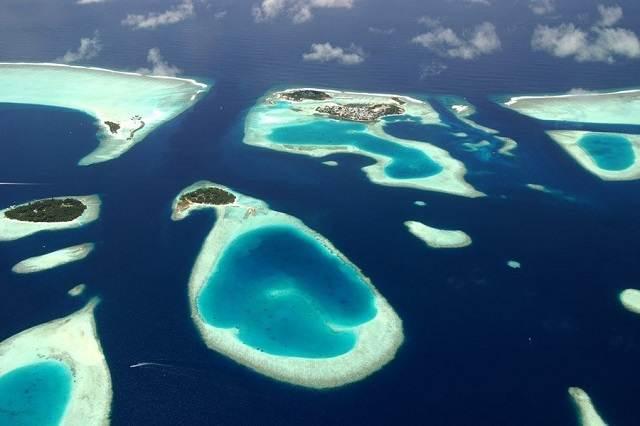 maldivas desde el cielo