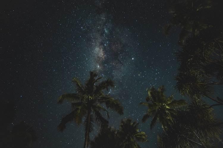 Vía láctea sobre el cielo de Tanzania en una noche clara