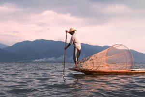 Pescador en el Lago Inle